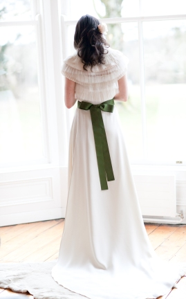 My wedding dress, Sean Byrne Couture, capelet, Vera Wang. March 2010, photo, ©Therese Aherne.