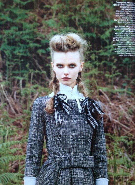 'Take the High Road' editorial, Vogue UK, September 2008. Fashion editor Kate Phelan, photographed by Venetia Scott.