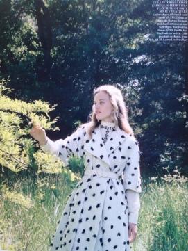 'Dream a little dream' editorial, Vogue UK, October 2013. Styled by Bay Garnett, photographs, Venetia Scott, model, Georgia May Jagger.